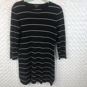 Brooks Brothers 3/4 Sleeve Striped Sweater Dress